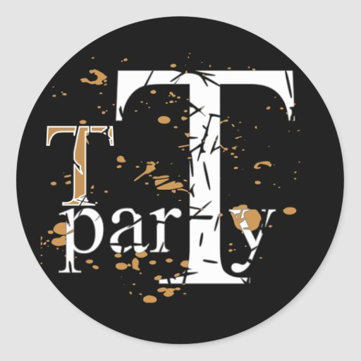 T (Tea) Party Round Stickers