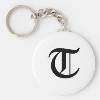 T-text Old English Key Ring
