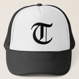 T-text Old English Trucker Hat