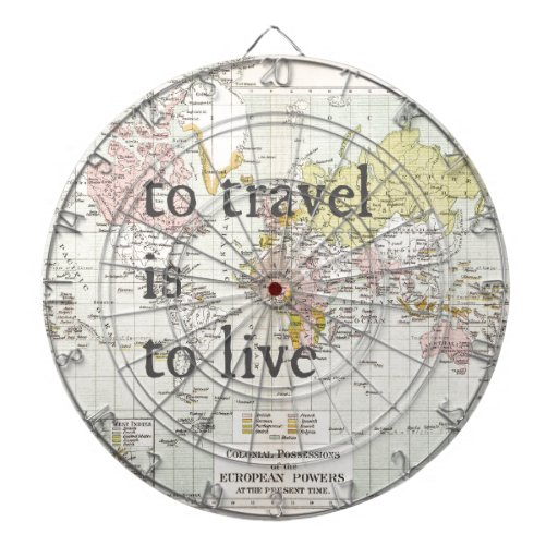 T Travel is To Live Dartboards