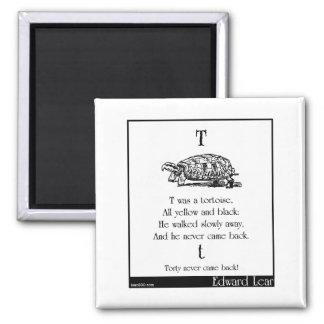 T was a tortoise fridge magnets