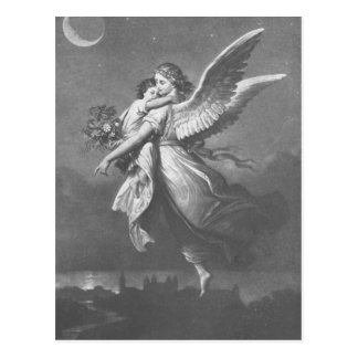 """'T was an angel visted the green earth."" Postcard"