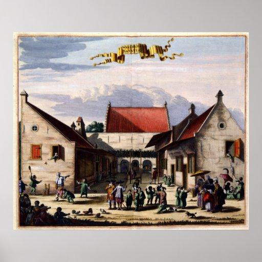 T WEESHUYS op BATAVIA 1682 Poster