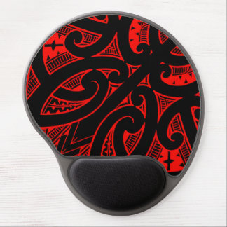 Ta Moko traditional Maori tattoo design koru shape Gel Mouse Mat