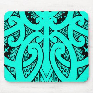Ta Moko traditional Maori tattoo design koru shape Mouse Pad