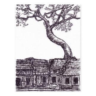 Ta Prohm, Siem Reap Postcard