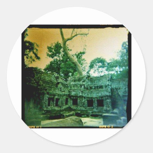 ta prohm temple near angkor wat classic round sticker