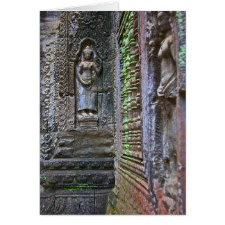 Ta Prohm Temple, Siem Reap Province, Cambodia 2 Card