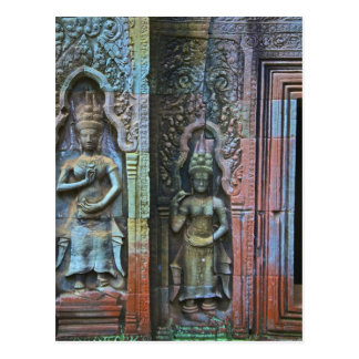 Ta Prohm Temple, Siem Reap Province, Cambodia Postcard