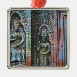Ta Prohm Temple, Siem Reap Province, Cambodia Silver-Colored Square Decoration