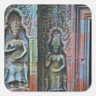 Ta Prohm Temple, Siem Reap Province, Cambodia Square Sticker