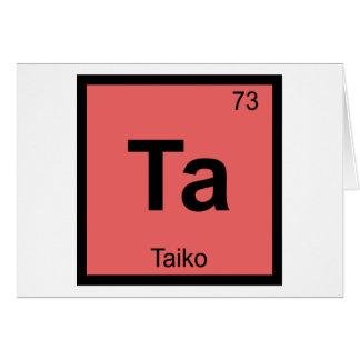 Ta - Taiko Music Chemistry Periodic Table Symbol Greeting Card