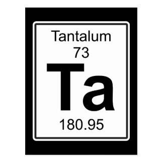 Ta - Tantalum Postcard