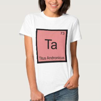 Ta - Titus Andronicus Chemistry Element Symbol Tee