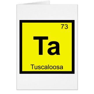 Ta - Tuscaloosa City Chemistry Periodic Table Greeting Card