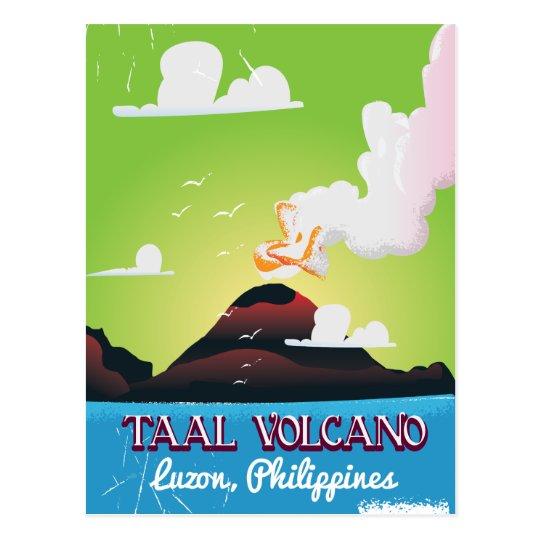 Taal Volcano Volcano Philipp vintage travel poster Postcard