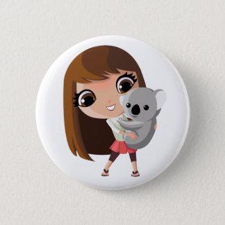 Taara and Pudding the Koala 6 Cm Round Badge