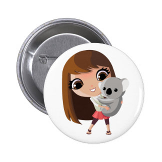 Taara and Pudding the Koala 6 Cm Round Badge