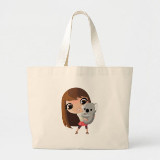 Taara and Pudding the Koala Large Tote Bag