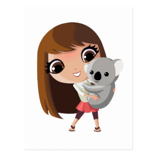 Taara and Pudding the Koala Postcard