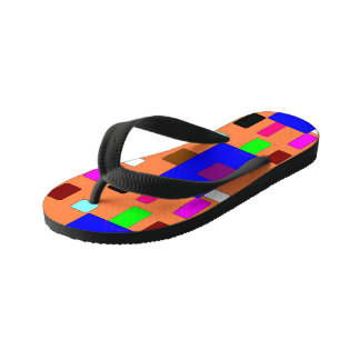 Tab – Abstract Art on Orange Background Flip Flops