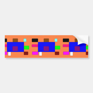 Tab – Colorful Abstract Art on Orange Background Bumper Sticker
