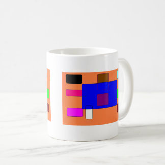 Tab – Colorful Abstract Art on Orange Background Coffee Mug
