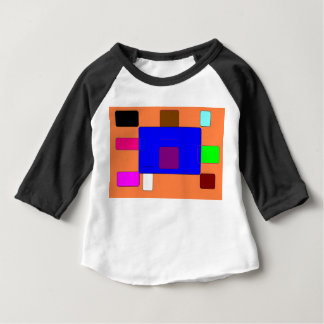 Tab – Colorful Abstract Art on Orange Backgroundv2 Baby T-Shirt