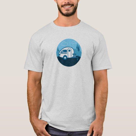 Tab Tear Drop Trailer Retro T-Shirt