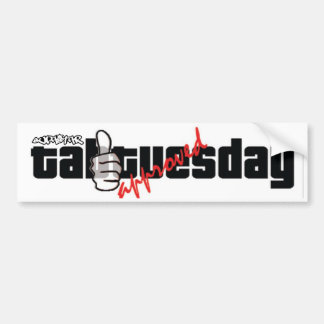 tab tuesday approved car bumper sticker