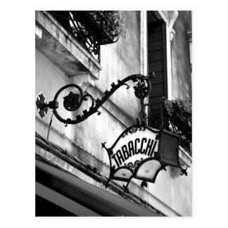 Tabacci Sign Postcard