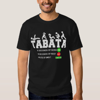 Tabata Cardio Bootcamp On/Off Workout Timer T-Shir Tshirt