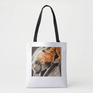 Tabby Cat and Horse Tote Bag