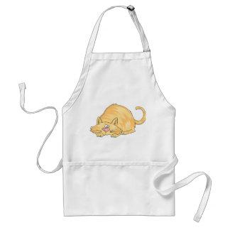 tabby cat adult apron