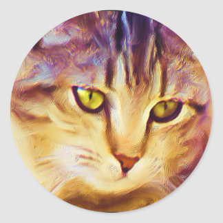 Tabby Cat Art stickers