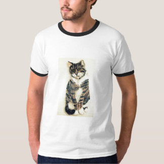Tabby Cat Art T-Shirt