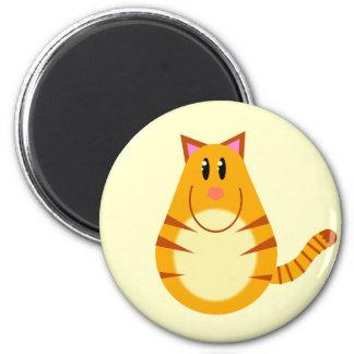 Tabby Cat Cartoon Magnet