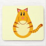 Tabby Cat Cartoon Mouse Pad