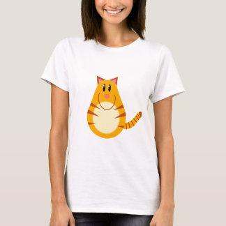 Tabby Cat Cartoon T-Shirt