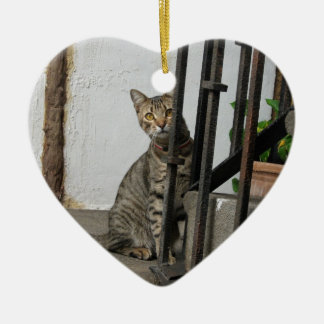Tabby Cat Christmas Ornament