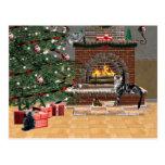 Tabby cat Christmas Post Cards