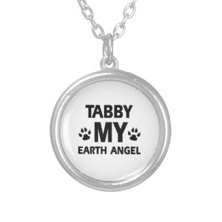 TABBY CAT DESIGN SILVER PLATED NECKLACE