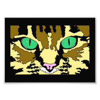 Tabby Cat Digital Art Poster