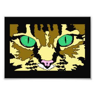 Tabby Cat Digital Art Poster Art Photo