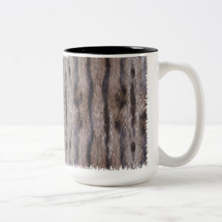 Tabby Cat Fur Two-Tone Coffee Mug