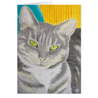 Tabby Cat Greeting Card, envelopes included Card