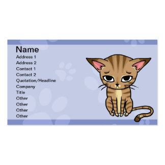 Tabby Cat Kitten Business Cards