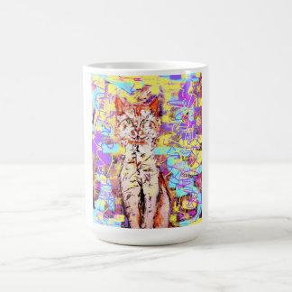 tabby cat basic white mug