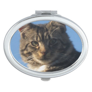 Tabby Cat - Oval Compact Mirror