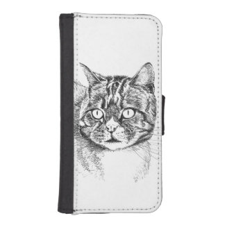 tabby cat phone wallet case